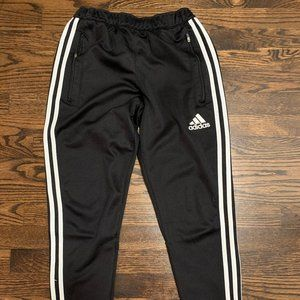 Black Adidas 3 Stripe Jogging Pants